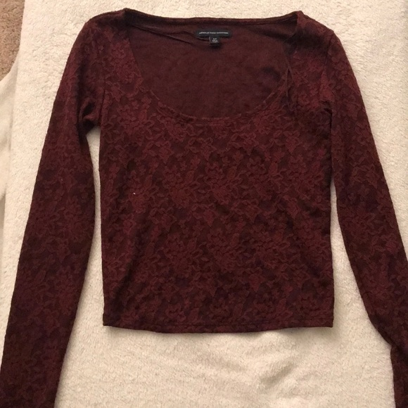 American Eagle Outfitters Tops - Maroon top